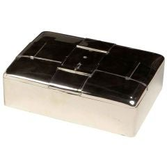 Sterling silver 'Buckle' box by Cartier.