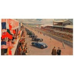 Original painting of the 1939 24 Heures du Mans