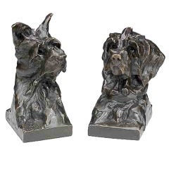 West Highland terrier bookends by Maximilian Fiot, c. 1930