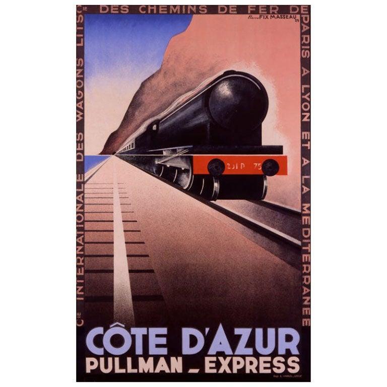 Original 'Cote d'Azur' poster by Pierre Fix-Masseau, 1929 ...