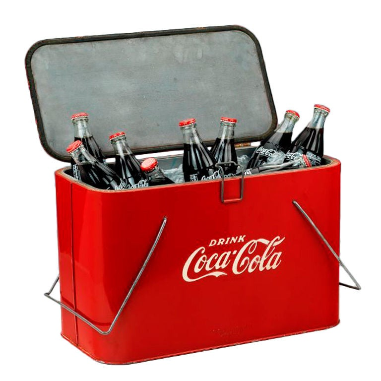 Original 'Coca Cola' picnic cooler.