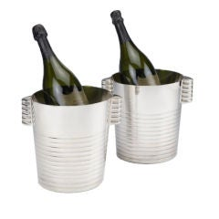 Original, Art Deco ice buckets from SS Normandie