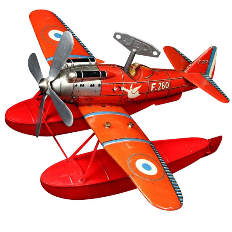 Art Deco Tinplate Toy Hydroplane By Jep Jouet De Paris