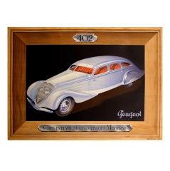 Original 'Peugeot 402' poster, 1935