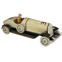 Tinplate Motorcar Toy by Johann Distler, 1930s