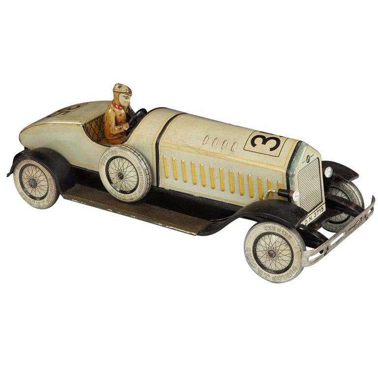 Tinplate Motorcar Toy by Johann Distler, 1930s For Sale