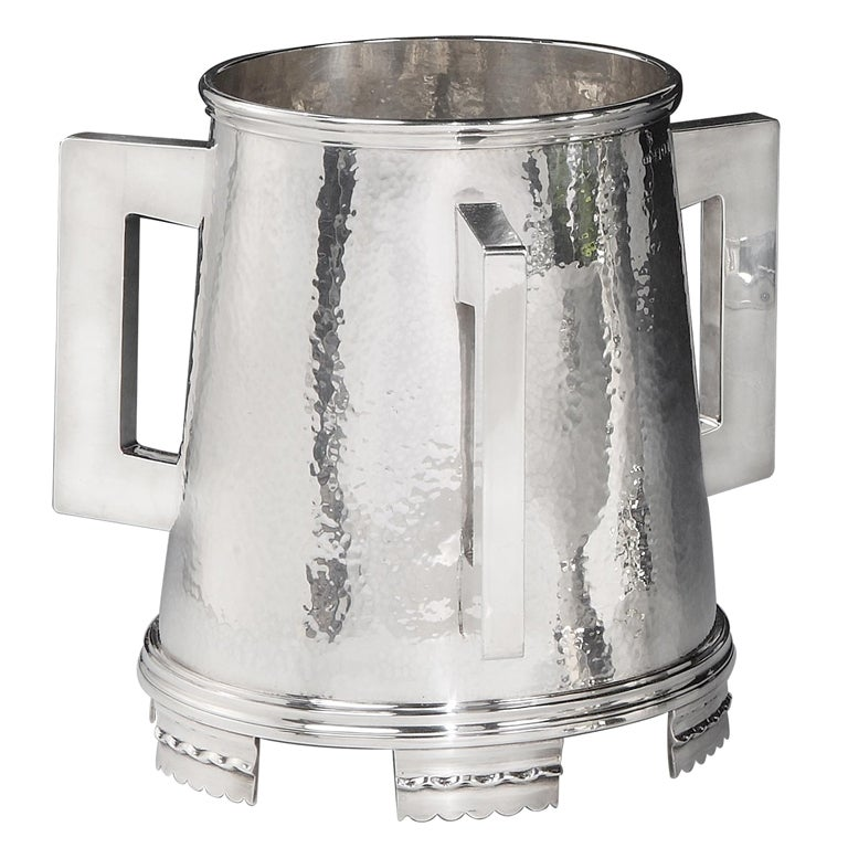 Giant Sterling silver three-handled cup, 1914