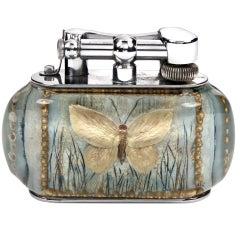 Rare 'Butterfly' Dunhill 'Aquarium' lighter, c. 1950s