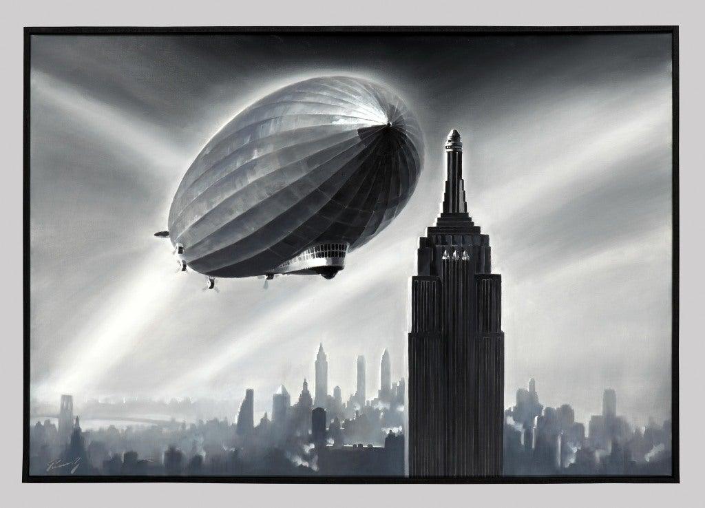 Zeppelin Over The Empire State Building By Lucio Perinotto