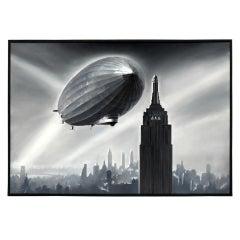 Zeppelin over the Empire State Building by Lucio Perinotto, 2010