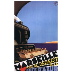 Original 'Marseille' poster by Roger Broders, 1930