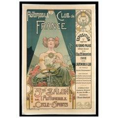 Original 'Automobile Club de France' poster, 1902