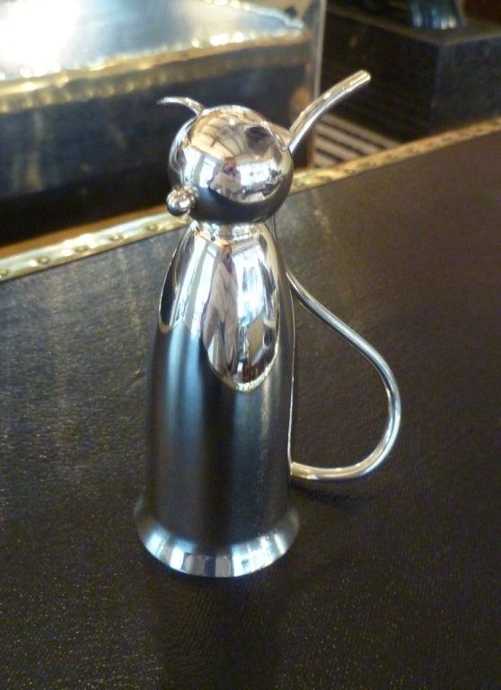 'Art Deco Cat' cocktail jigger by Napier, c. 1930 2