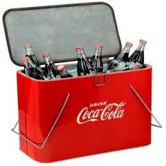 Original 'Coca Cola' picnic cooler, c. 1945