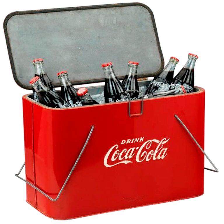 Original 'Coca Cola' picnic cooler, c. 1945 For Sale