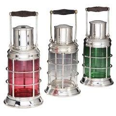 Original 'Ship's Lantern' Cocktail Shakers by Asprey, c. 1930