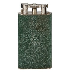 Rare 'Giant' Dunhill Shagreen Lighter, 1930s