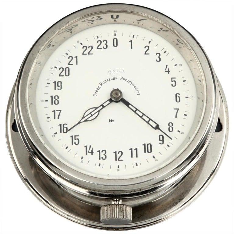 Russian Submarine Bulkhead Clock, 1962
