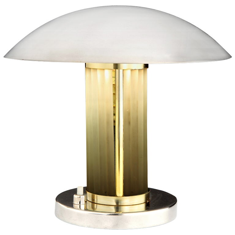 Frosted glass Art Deco table lamp, c. 1920 1