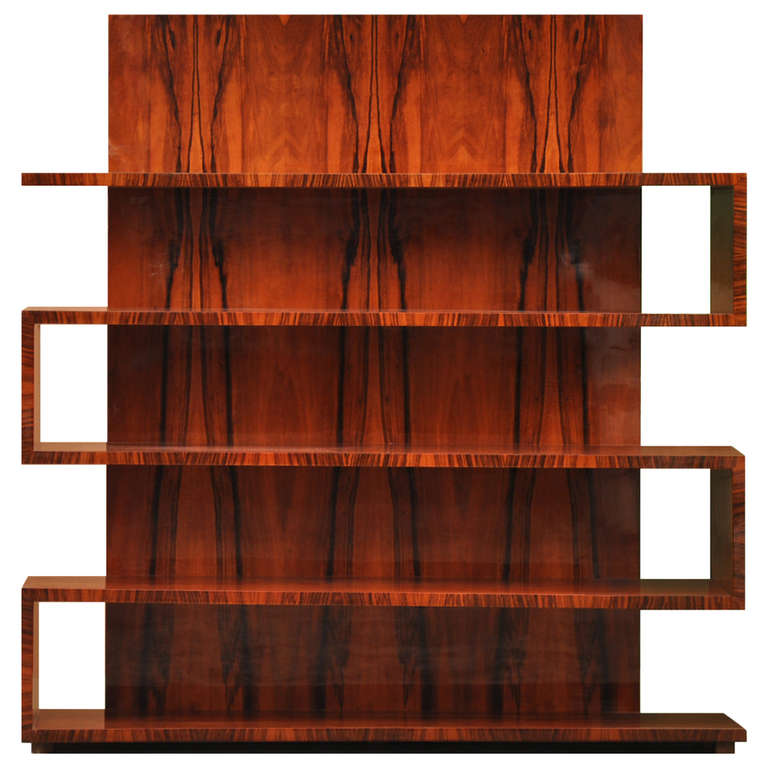 Art Deco Bookcase with Tall Back at 1stdibs