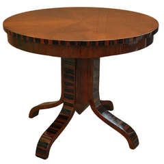 Mid 20th Century Walnut Art Deco Side Table