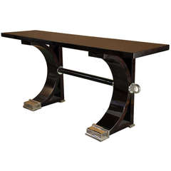 "Palisander Console Table with ""C"" Base"