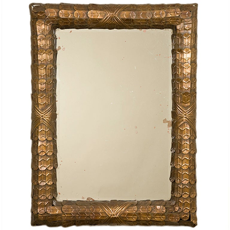 1940 S French Copper Mirror At 1stdibs