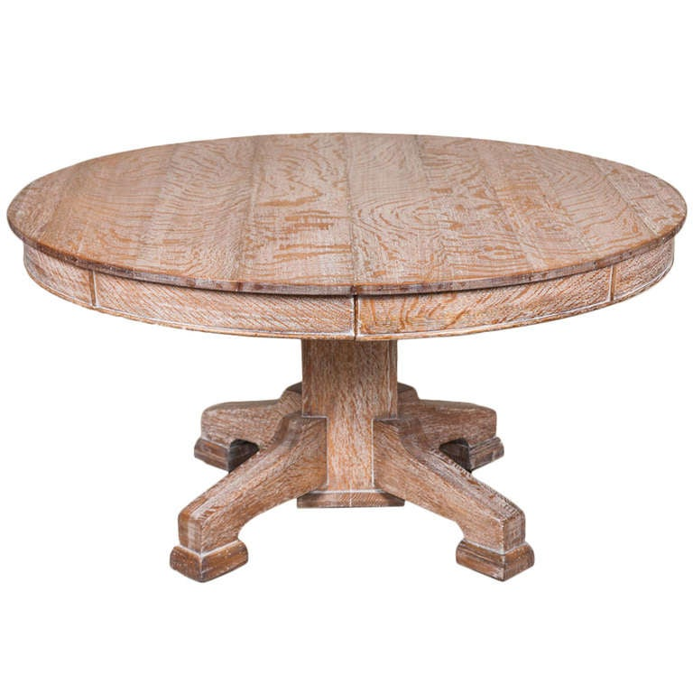 Limed oak circular dining table at 1stdibs - Limed oak dining tables ...