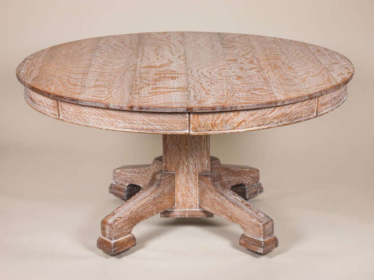 Limed Oak Circular Dining Table 2