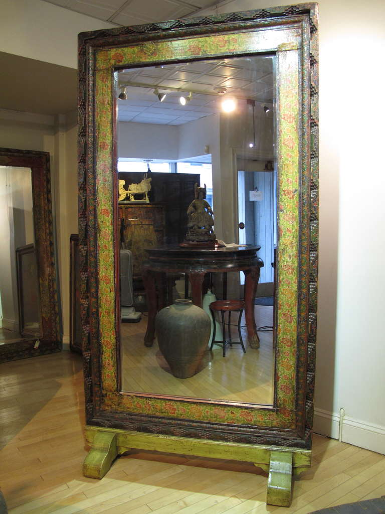 large free standing mirror from a mongolian house at 1stdibs