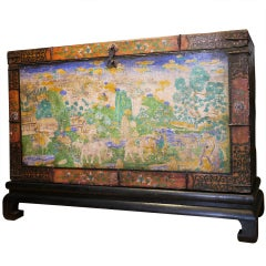 Rare and Beautiful Large Tibetan Chest