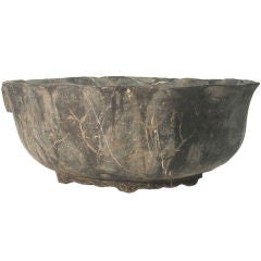 Large 18th Century  marble bowl for water plants, gold fish,...