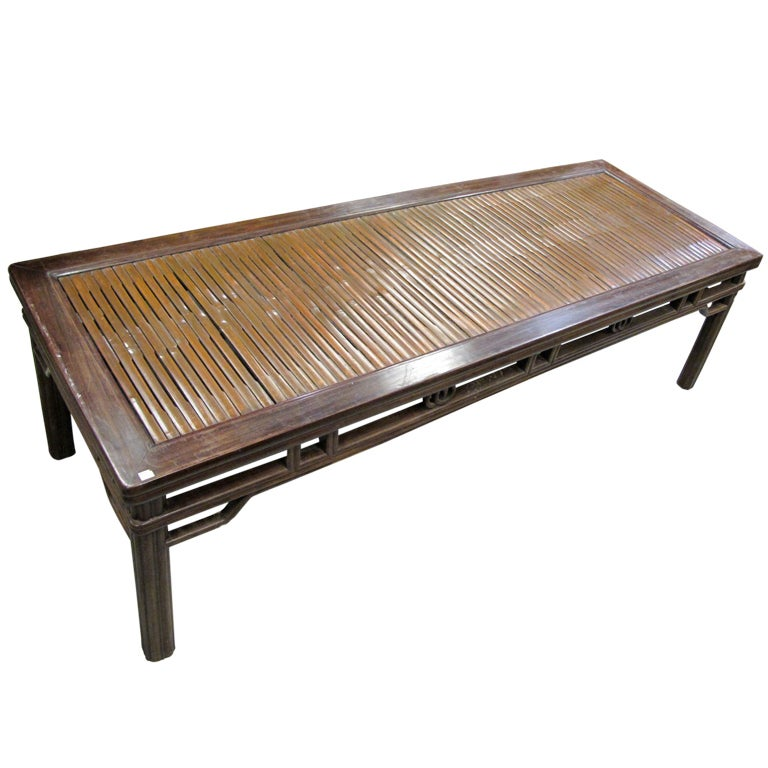 A Bamboo Day Bed Coffee Table From Southern China At 1stdibs