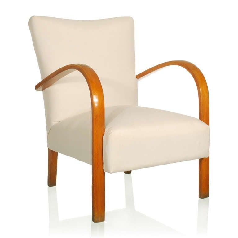 Pair italian deco modern club chairs or lounge chairs at 1stdibs - Deco lounge oud en modern ...