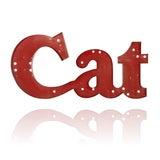 Cat Large Metal Letter Sign image 2