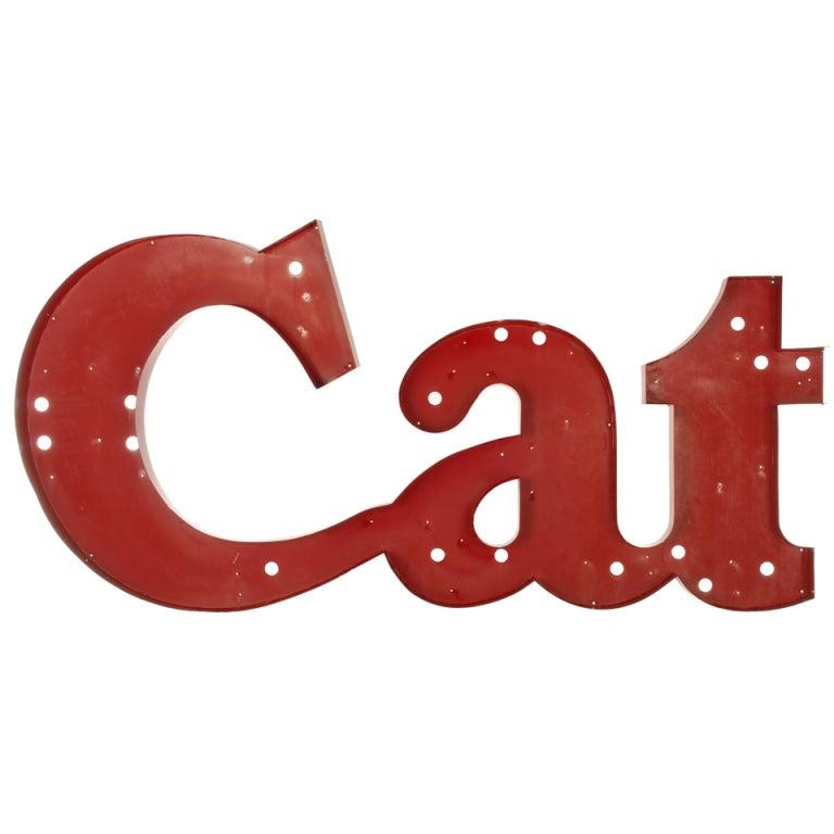 Cat Large Metal Letter Sign