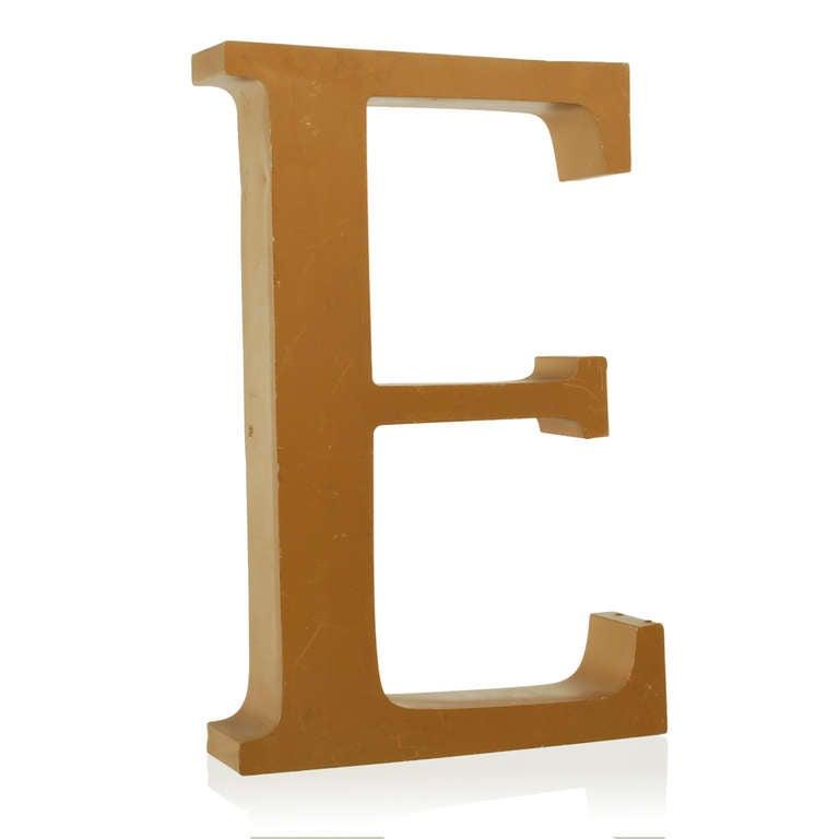 Wet large vintage metal letter sign at 1stdibs for Furniture 6 letters