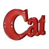 Cat Large Metal Letter Sign image 3
