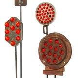 Collection of Antique Reflectors with Glass Marbles on Custom Stands image 3