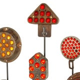 Collection of Antique Reflectors with Glass Marbles on Custom Stands image 4