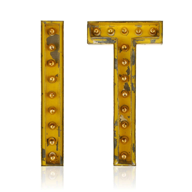 lighted theater marquee letters from the 193039s at 1stdibs With theater marquee letters
