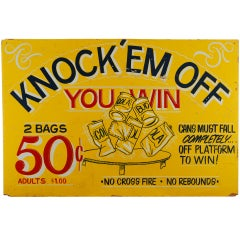 Knockem Off Vintage Carnival Gmae Sign