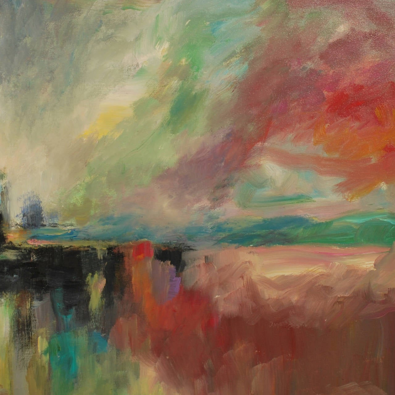 Enchanted city original abstract painting for sale at for Original abstract paintings for sale