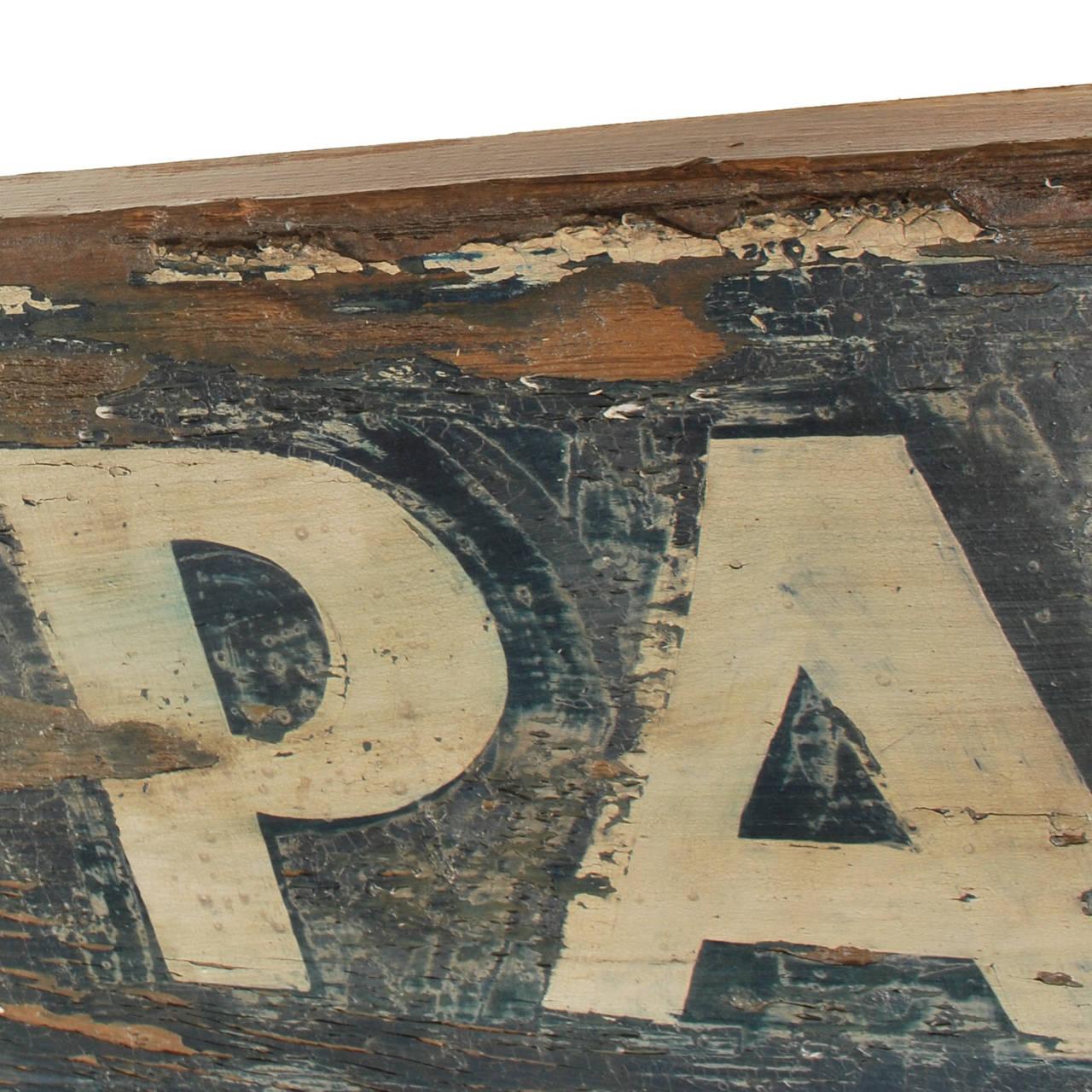 Vintage Park: Standard Trailer Park Vintage Wood Sign For Sale At 1stdibs