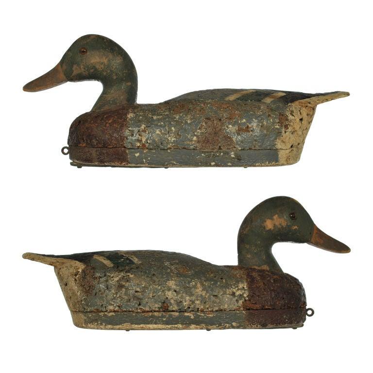 Antique Mallard Duck Decoy At 1stdibs