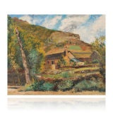 French Countryside Painting by Conrad Kickert, 1930 image 5