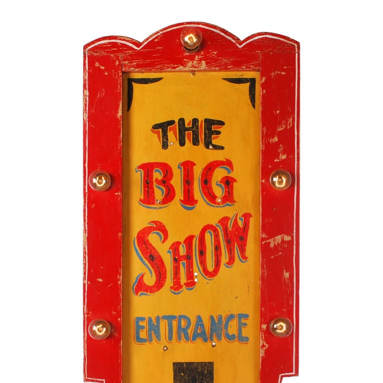 The Big Show Lighted Carnival Sign image 4