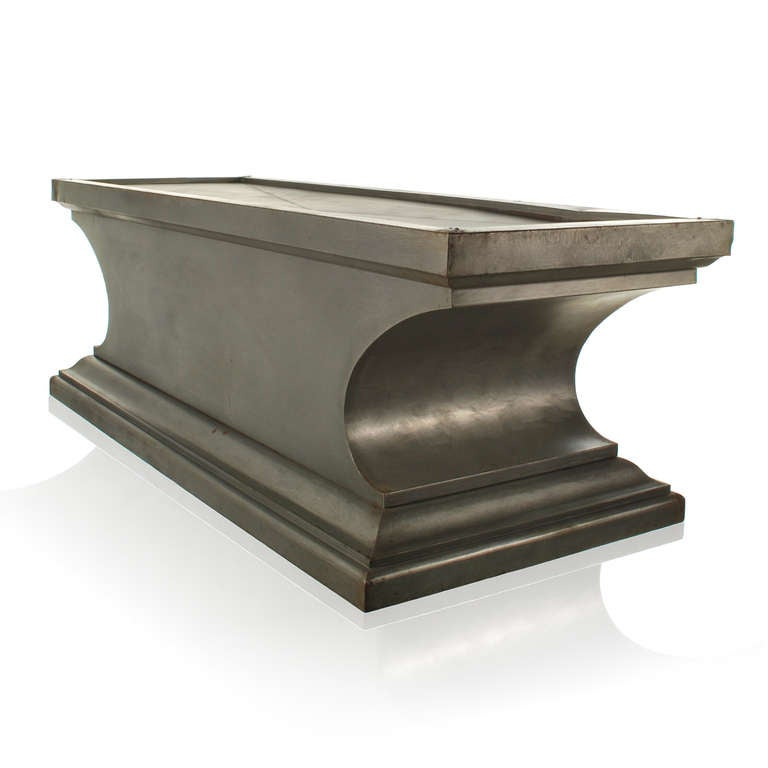 Industrial Style Coffee Table Console From Funeral Table At 1stdibs