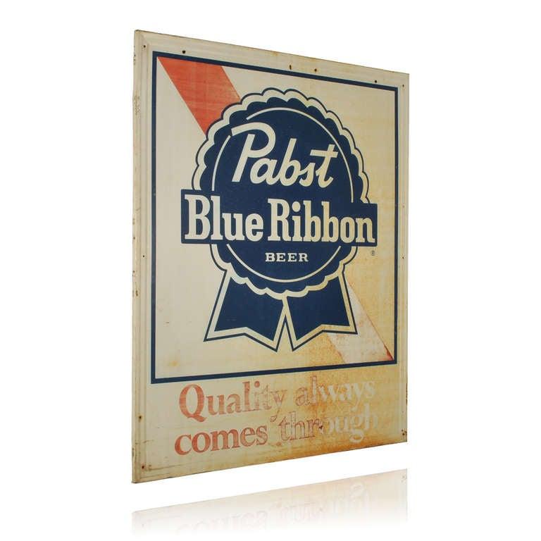Large Pabst Blue Ribbon Beer Sign At 1stdibs