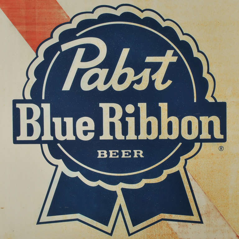 Large Pabst Blue Ribbon Beer Sign Image 4